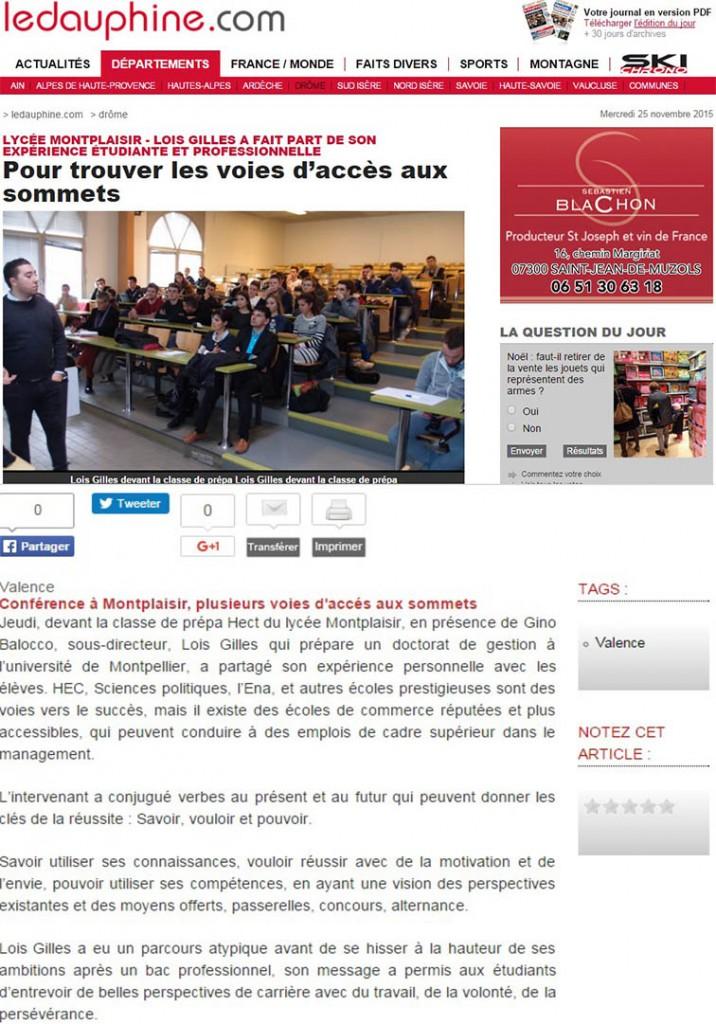 Pour trouver les voies d'accès aux sommets - Le Dauphiné Grand Valence - 15/11/2015